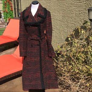 Kate Spade tweed Trench Coat